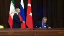 Putin dropped Erdoğan's chair on November 23, 2017