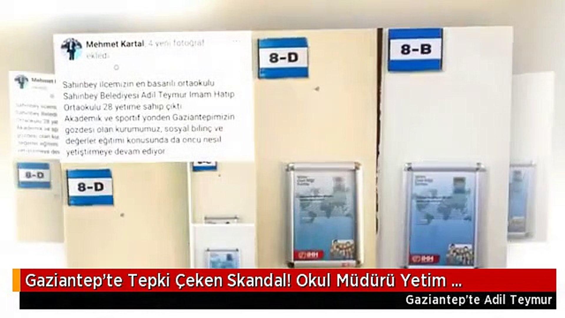 Gaziantep'te Tepki Çeken Skandal! Okul Müdürü Yetim Çocukları Böyle İfşa Etti