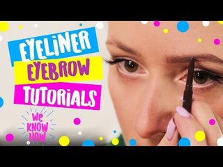 Easy eyebrow and eyeliner make up tutorials