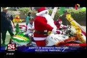 Los Olivos: disfrazan a serenos como Papa Noel para despistar a los malhechores