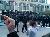 Vidéo blocage fac nanterre, etudiants en colere