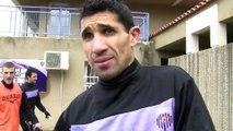 Le buteur du FC Istres Nassim Akrour avant la rencontre dans les Vosges