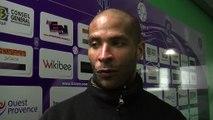 La réaction du capitaine Istréen Eric Chelle après la défaite face à Auxerre