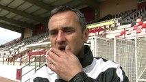 Jean-Luc Vannuchi l'entraîneur du FC Martigues avant Pau demain soir