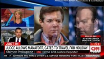 Judge Allows Paul Manafort, Gates to Travel for Holiday. #PaulManafort #Gates #Breaking #Holiday-I9wZf10taZk