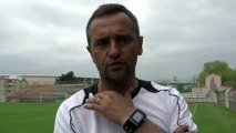 Le coach Martégal Jean-Luc Vannuchi avant la réception de Monaco