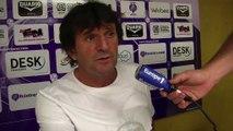 La réaction de l'entraîneur du FC istres José Pasqualetti après le nul face au CA Bastia