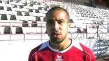 L'attaquant du FC Martigues Stephen Vincent avant le déplacement à Tarbes