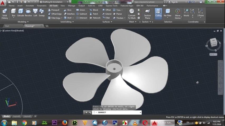 AutoCAD 3D Fan Tutorial | AutoCAD Adavanced 3D Tutorials for