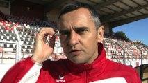 Jean-Luc Vannuchi le coach sang et or avant la réception de Béziers
