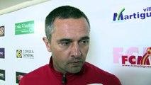 Jean-Luc Vannuchi après la victoire face à Tarbes