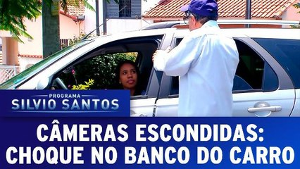 Câmeras Escondidas - Choque no banco do carro