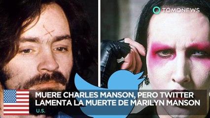 Muere Charles Manson: Twitter confunde la muerte de Charles Manson con Marilyn Manson - TomoNews