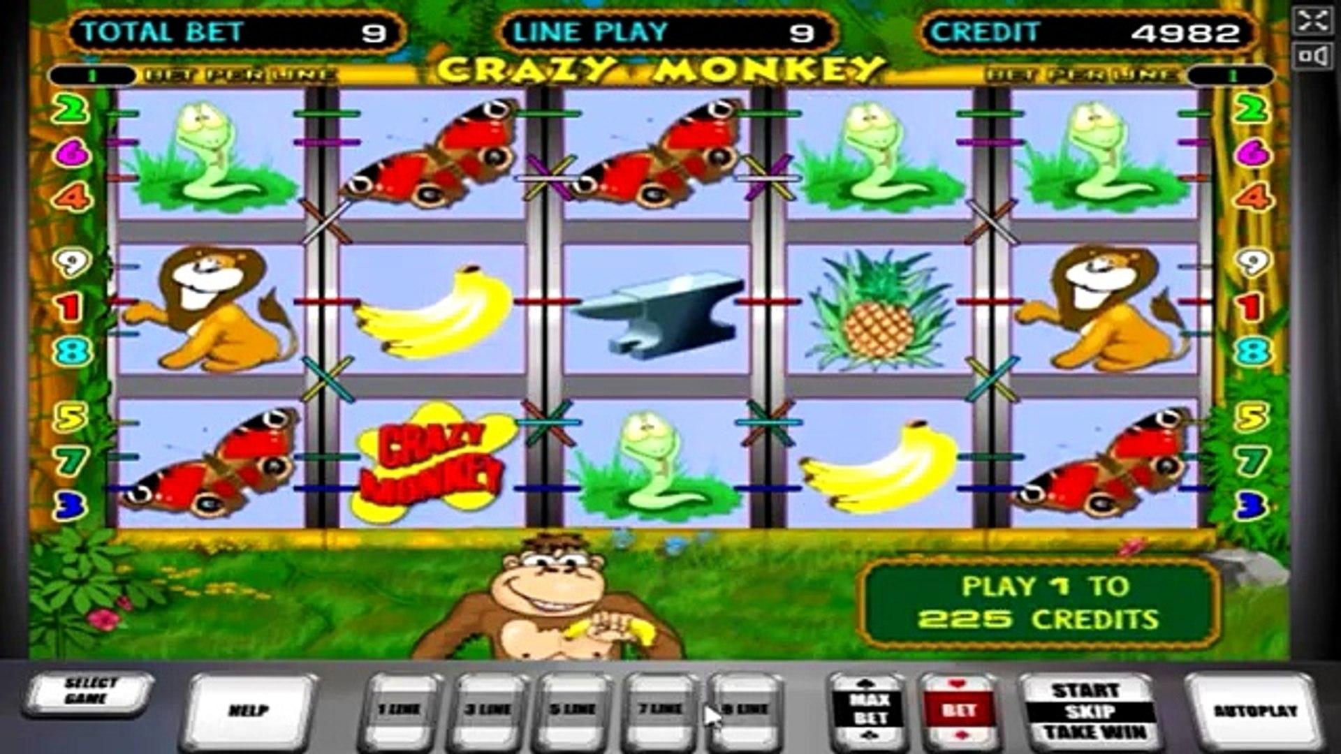 Играть бесплатно в игровые автоматы crazy monkey