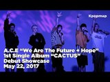"""[INSIDE SHOWCASE] 170522 A.C.E (에이스) Debut Stage - """"We Are The Future + Hope"""" Cover Performance"""