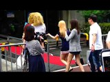 150821 SNSD arriving at Music Bank @Kpopmap