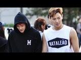 150918 Monsta X arriving at Music Bank @Kpopmap