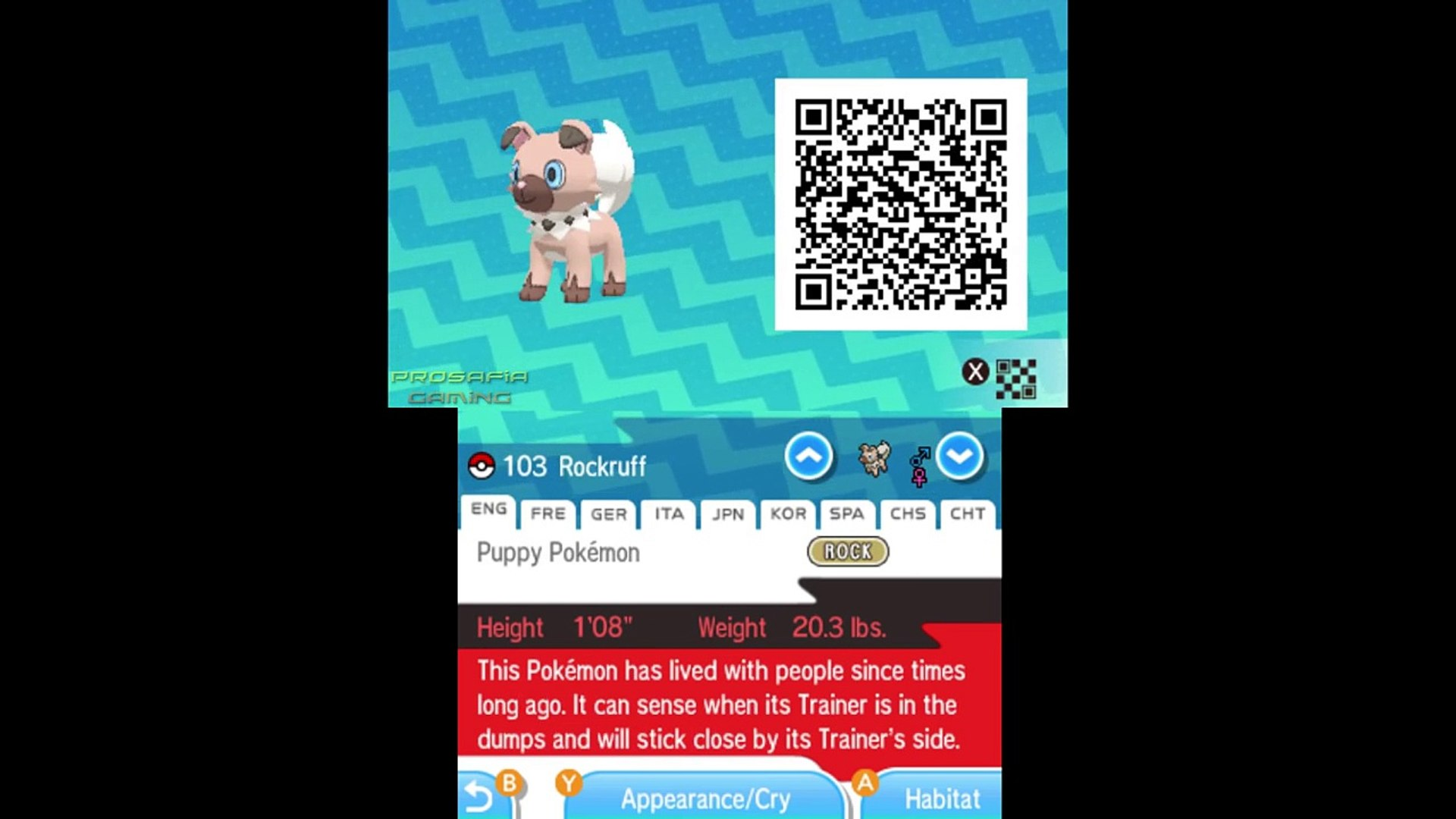 Pokémon Sun and Moon Complete Pokédex (ALL QR Codes & Shinies)