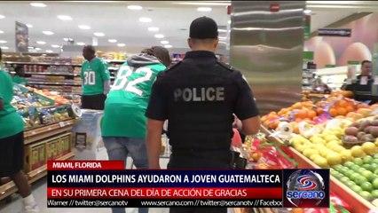 Los Miami Dolphins ayudan a joven guatemalteca