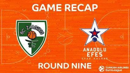 EuroLeague 2017-18 Highlights Regular Season Round 9 video: Zalgiris 91-83 Efes