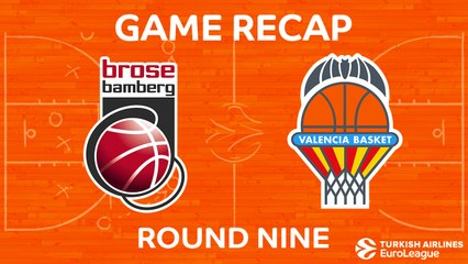 EuroLeague 2017-18 Highlights Regular Season Round 9 video: Bamberg 83-82 Valencia