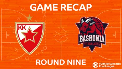 EuroLeague 2017-18 Highlights Regular Season Round 9 video: Zvezda 81-85 Baskonia