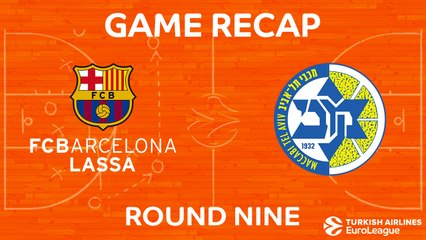 EuroLeague 2017-18 Highlights Regular Season Round 9 video: Barcelona 89-67 Maccabi