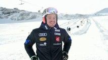 Valentin Giraud-Moine de retour sur les skis