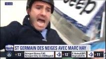 """Notre journaliste a testé une drôle de luge volante à """"Saint-Germain des neiges"""" à Paris"""
