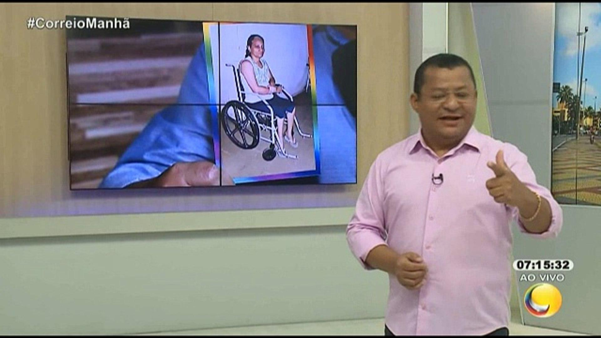 Correio Manhã – Corrente do Bem - O senhor Luiz Alves recebeu ontem a nova cadeira de rodas para a m