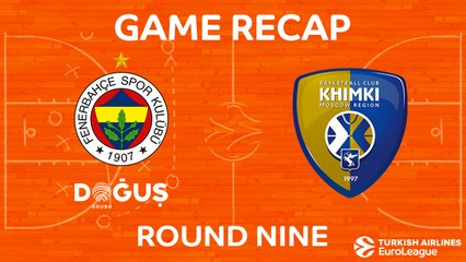 EuroLeague 2017-18 Highlights Regular Season Round 9 video: Fenerbahce 71-67 Khimki