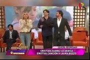 Cristian Zuárez dedicó esta emotiva canción a Laura Bozzo