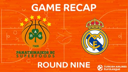 EuroLeague 2017-18 Highlights Regular Season Round 9 video: Panathinaikos 82-80 Madrid