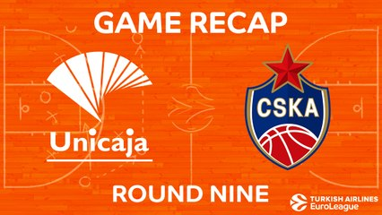 EuroLeague 2017-18 Highlights Regular Season Round 9 video: Unicaja 80-89 CSKA