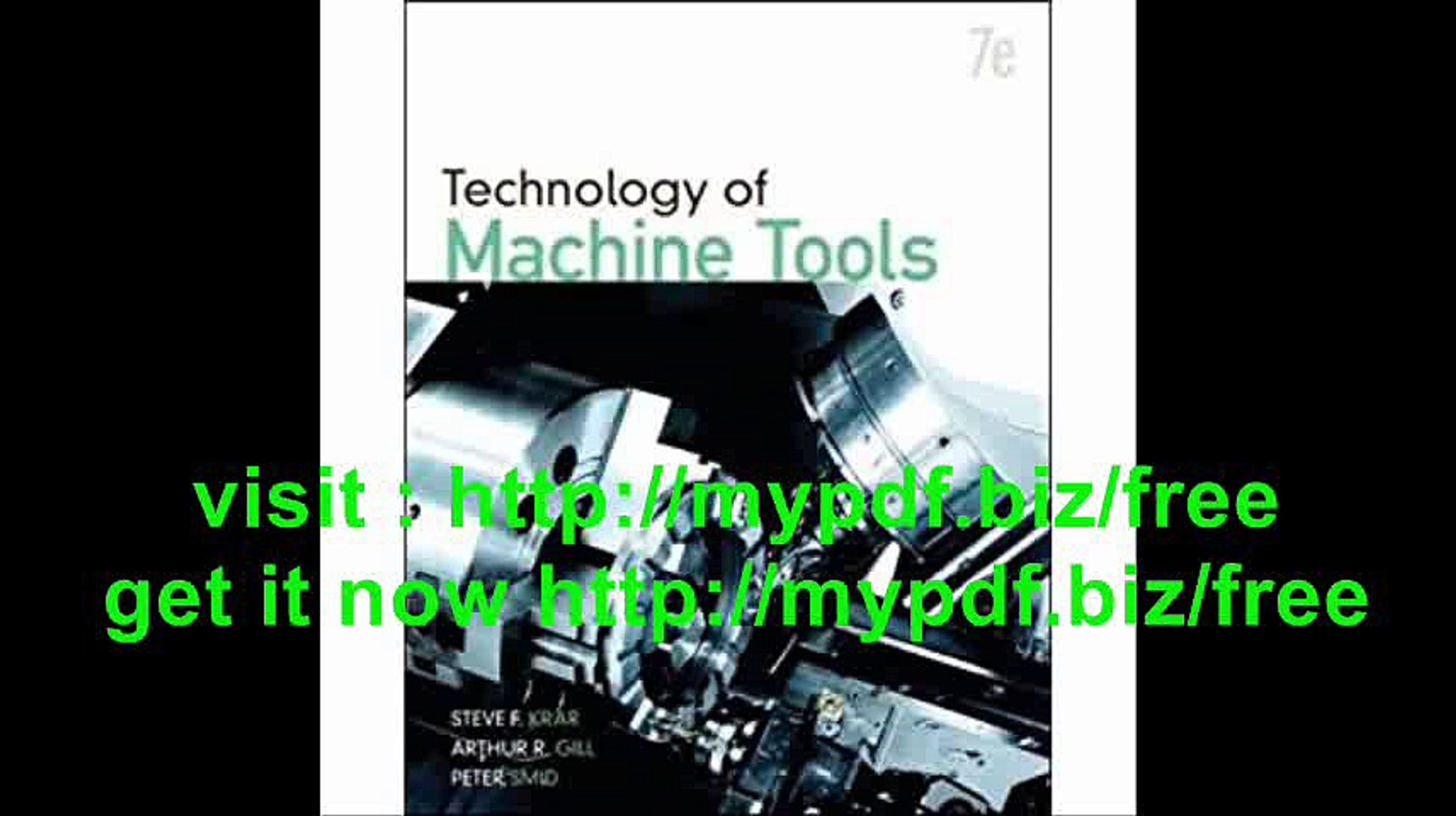 Technology Of Machine Tools (Engineering Technologies & the Trades)