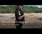 Hero Cop Protects Sea Turtles Laying Eggs On Beach  The Dodo (1)