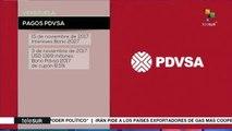 Venezuela: pagos puntuales de PDVSA
