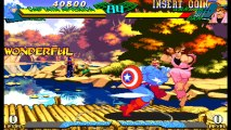 Marvel Super Heroes vs. Street Fighter - Ken, Captain America