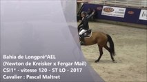 Bahia de longpré (Newton de Kreisker x Fergar Mail) vitesse 120 CSI* St-Lô 2017