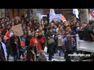 Manif Toulouse Fonctionnaires Etudiants 20nov07