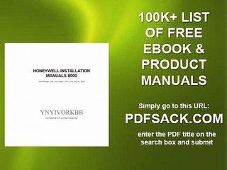 Honeywell Installation Manuals 8000