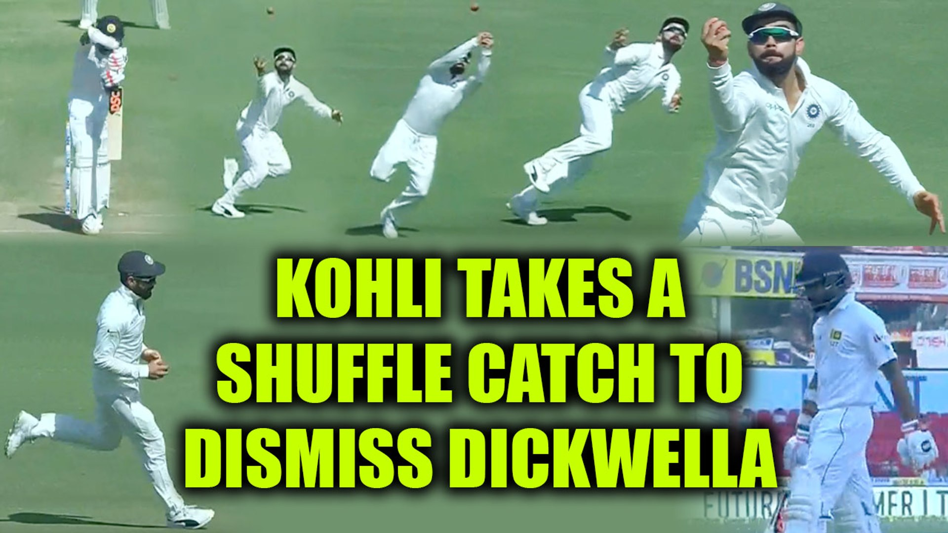 India vs SL 2nd test : Virat Kohli dismisses Dickwella, takes a shuffling catch | Oneindia News