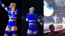 Katy Perry tire un gros ballon sur un spectateur lors d'un concert