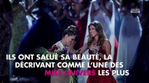 Miss Univers 2017 : Iris Mittenaere sublime en robe rouge au large décolleté