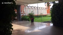 Bali airport deserted after volcano eruption