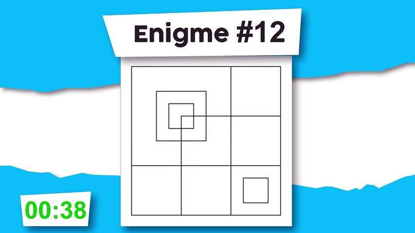 Énigme #12 : Combien de carrés ?