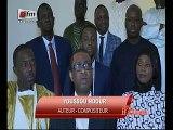 Youssou Ndour son fils Birane, Ngoné Ndour et Mbaye Dieye Faye chez Macky Sall