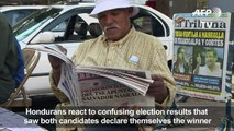 Hondurans await electoral results, as opposition candidate leads