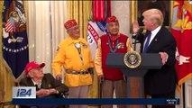Devant des Améridiens, Trump fait une blague sur Pocahontas