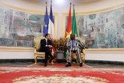Conférence de presse du Président de la République, Emmanuel Macron, et de M. Roch Marc Christian Kaboré, Président du Burkina Faso